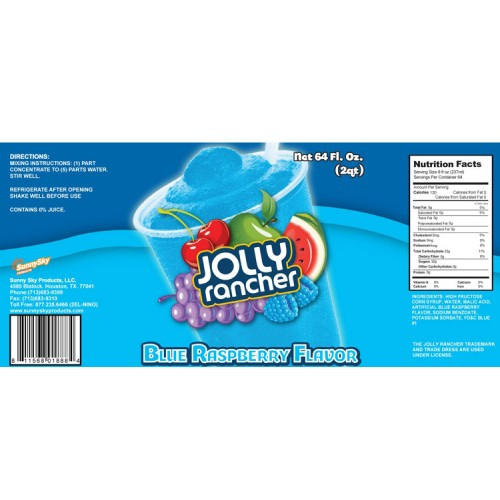 Jolly Rancher Slushie Syrups Uncarbonated